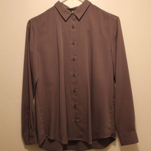 Uniqlo Button Up Shirt Olive Green XS